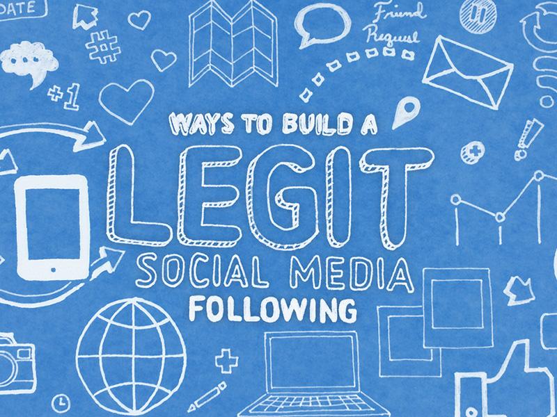 Ways to Build a Legit Social Media Following hand drawn
