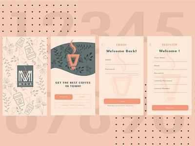 Mobile App Design ( part1 ) branding vector app ui illustration design