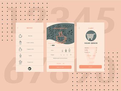 Mobile App Design ( part2 ) typography ux vector logo app ui illustration design branding