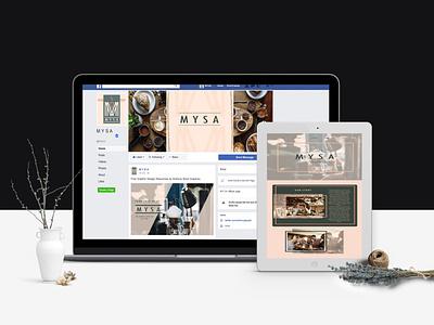 Facebook and Website Design social media post facebook post website design facebook cover vector ui app illustration design branding
