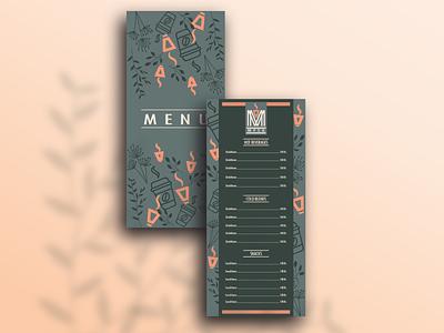 Menu Card Design menu card product design graphic design branding vector illustration design