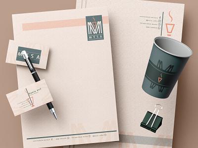 Product Design customised stationery product design official stationery logo branding vector illustration design