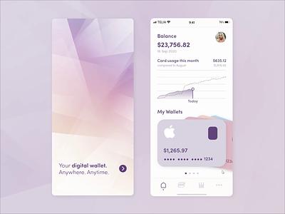 Digital Wallet App wallet app swipe finnace app digital wallet dailyui daily ui daily 100 challenge credit card adobe xd
