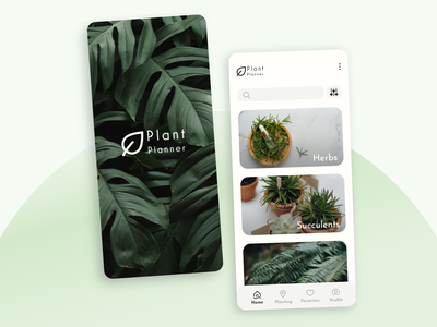 Plant Planner App home plants care nature photography createwithadobexd plants planting plant app plant planner daily ui daily 100 challenge ui ux interface visual ui design product adobe xd dailyui