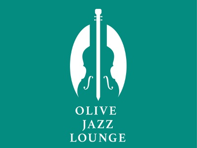 Olive Jazz Lounge illustration vector typography icon illustrator app logo web minimal branding