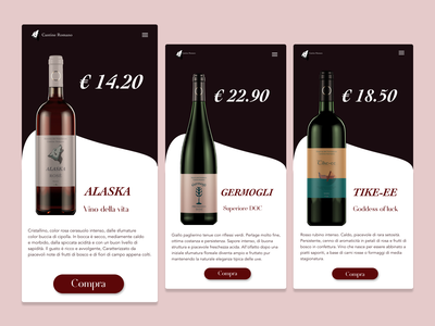 Wine App vector website ux ui adobexd web app design minimal branding