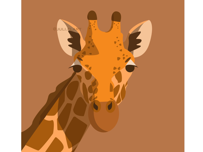 Giraffe design graphic illustrator art drawing vector nature illustraion flat illustration giraffe flat poster digital painting project characterdesign animals africa