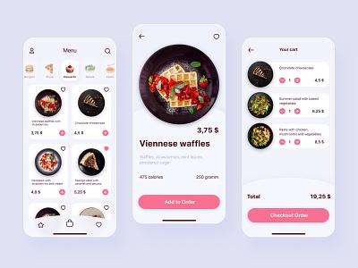 Food delivery App menu order checkout cart app food delivery food delivery app mobile app design mobile design mobile app mobile ui mobile ux ui design