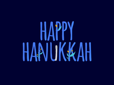 Happy Hanukkah! motion graphic vector celebration aftereffects graphic animation illustration design lottie animation lottiefiles hanukkah