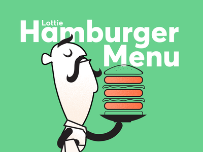 Illustration for Lottie Hamburger Menu Blog Post ux ui lottie animation design hamburger menu hamburgers animation lottiefiles illustration blogpost