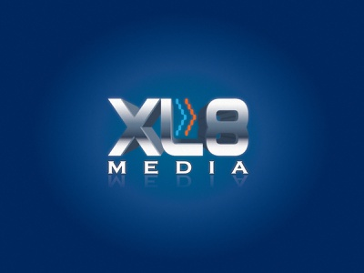 XL8 Media Logo typography design logo
