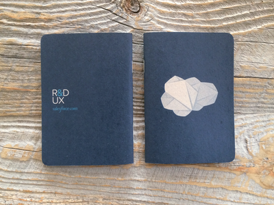 Origami Cloud Scout Books origami cloud logo notebooks print scout books blue navy illustration