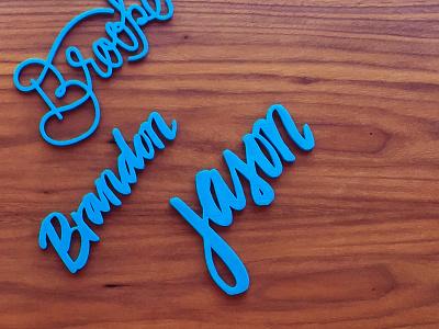 3D Lettering 3d printing 3d print brush lettering hand-lettering lettering
