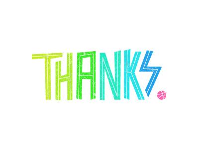 Heartfelt firstshot thanks illustration typography