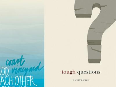 Tough Questions church ministry nonprofit print design illustration