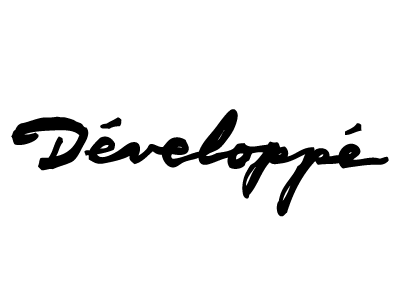 developpe typography logo logo design branding