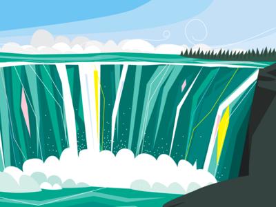 niagara falls illustration for fun landscape