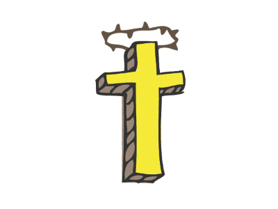 a crown of thorns jesus cross faith illustration hand-drawn