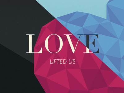love lifted us album cover heart blue pink red magenta vector faceted gem jewel print cd music artist