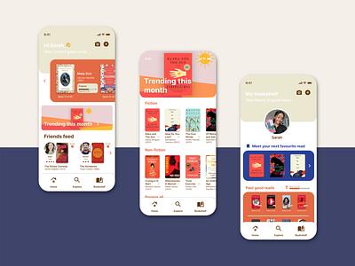 Goodreads UI Re-design design books book goodreads app illustration ui mobile