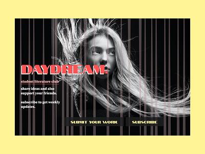 Literature club landing page webdesign landingpage ux ui design