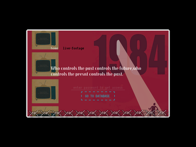1984 1984 big brother fictional 15daychallenge book webdesign landingpage ux ui design