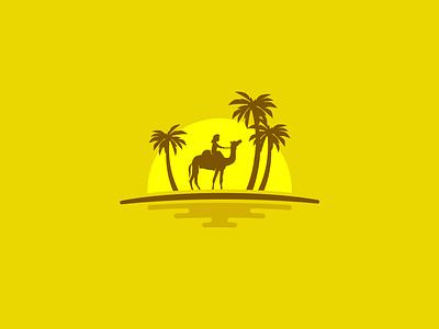 Oasis graphic concept camel freebies freevector freevectors instantbranding oasis yellow palmlogo camellogo oasislogo freegraphics freecontent logodesigner mrbranding logodesign freelogodesign easybranding freelogo logo free