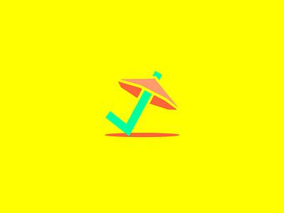 Beach? Check! free design inspiration concept great logo checkmark logo check logo checkmark umbrella logo beachlogo beach logooftheday dailylogo easybranding freecontent freelogodesign logodesigner logo logodesign freelogo mrbranding
