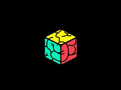 Brain Cube logo mark colorful logo design branding yourlogo logodesigner logos inspiration creative brain box box cube brain cube brainlogo brain boxlogo cubelogo box cube logodesign logo mrbranding
