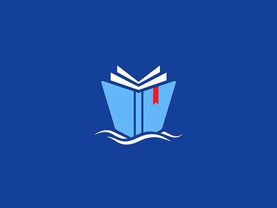 Ship & Book Logo concept quirky inspiration ship design bookmark logo bluelogo blue sealogo bookmark booklogo shiplogo design branding dailylogo logooftheday free logodesigner freelogo logo logodesign mrbranding
