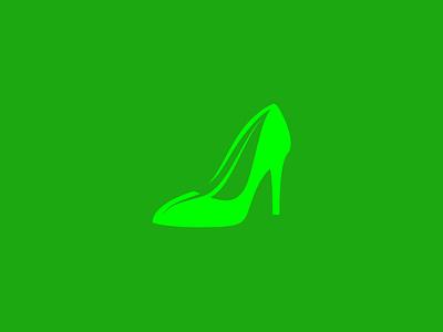 Eco Shoe Logo Concept free high heel quirky unique sustainable green leaf logo eco logo shoe logo feminine logo dailylogo vector design branding freegraphics illustration freelogodesign logodesigner logodesign mrbranding