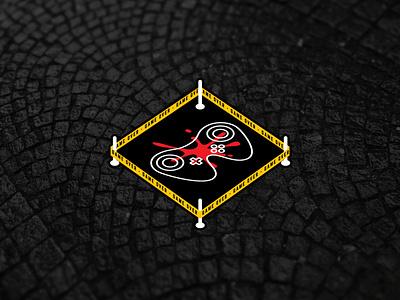 Crime Scene Game Over Design graphic design getinspired inspiration gameover gamingdesign crimescene gaming stickerdesign tshirtart sticker illustration design free logodesigner logo mrbranding