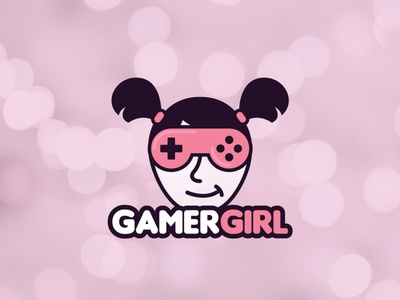 Gamer Girl Sticker Design graphic design controller pink sweet girl gamergirls girlgamer gamergirl cute illustration design free logodesigner logo logodesign mrbranding