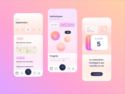 Application de calendrier uidesign site design branding uxdesign uiux ui design app apps