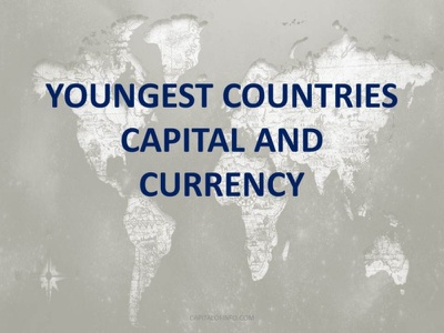 Newest Countries of the World capital and currency all countries list latest countries newest countries youngest countries