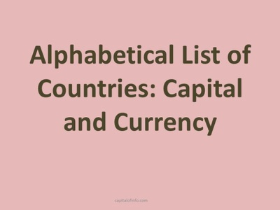 Alphabetical List of Countries with Capital Currencies total countries countries of world all countries countries capitals currencies alphabetical list of countries countries capitals list of countries