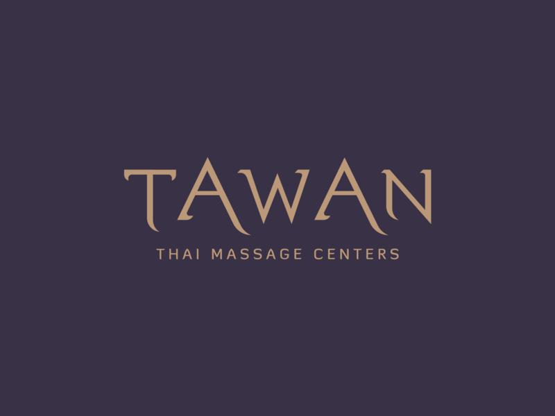 TAWAN Logo Facelift facelift gold bronze oriental typography illustraion identity branding brand health beauty massage thai asian logotype logo design logo