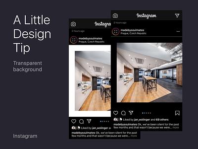 A Little Design Tip for Instagram ux dark mode facelift ui design tip instagram mobile app