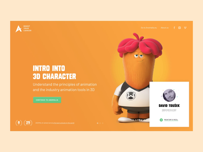 Anomalia Microsite courses learning cartoon fullscreen education school 3d vfx games after effects homepage animation uiux ui design landing page websites webdesign anomalia