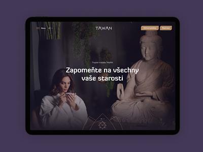 TAWAN Website tablet beauty spa massage thai oriental brand web ux branding clean logo ui design mobile