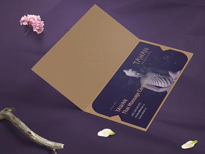 TAWAN Print relax thai massage spa beauty prints dnd flyer certificate gift print voucher