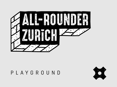 All-rounder Zurich Playground illustrator playground typography branding zurich rough logotype logo apparel branding design brand