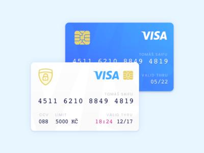 Saifu Credit Cards clean ui illustration app banking bank pay visa card credit vector