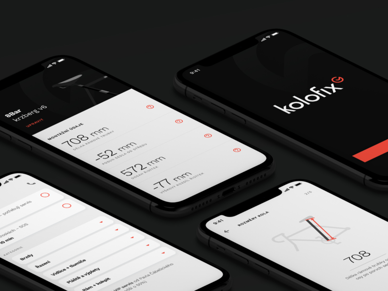 Kolofix Mobile App branding bicycle bike dark ui mobile ui app kolofix mobile app mobile