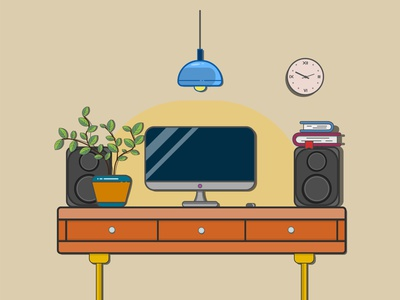 Work Place bestvector graphicdesign flatvector vector illustration vectorart firstshot illustrator adobe illustrator digital illustration digitalart workspace workplace web flat vector illustration design