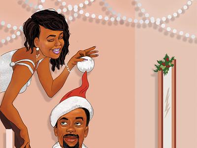 Christmas Art Illustration christmas card hand-drawn illustration