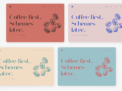 Colours & Typography - Exploration colorcombinations coffeelover coffeeshop coffee colorfulldesign landingpage playingwithcolors colors website illustrator web vector illustration ux typography minimal ui design