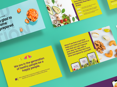 Pitch deck for Nutritional app business marketing design tool app healthyfood presentation design presentation