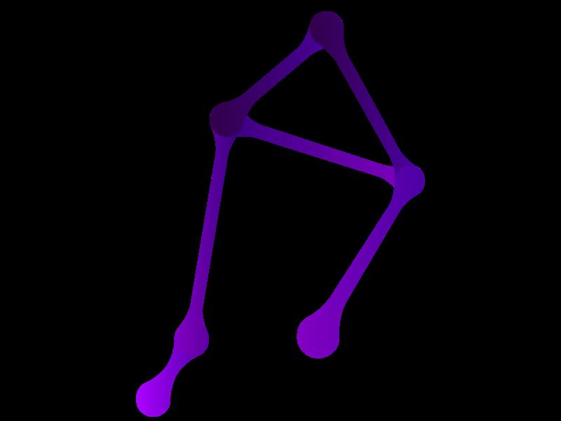 Libra logo gradient constellation libra illustrator