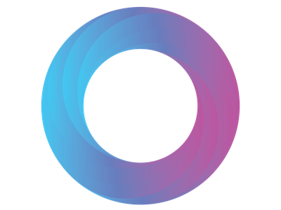 Swirl 3d circular logo gradient illustrator